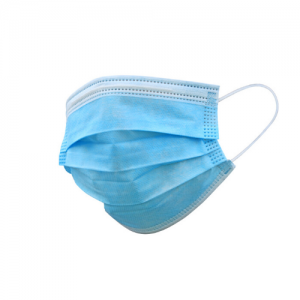 Disposable 3-ply face masks with elastic ear loops and embedded nose clip - Nationwide Medical Supply