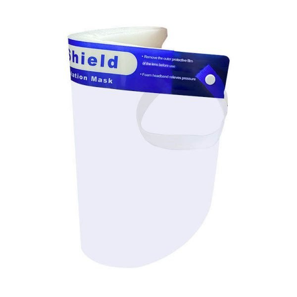 Reusable face shield with adjustable elastic headband - Nationwide Medical Supply