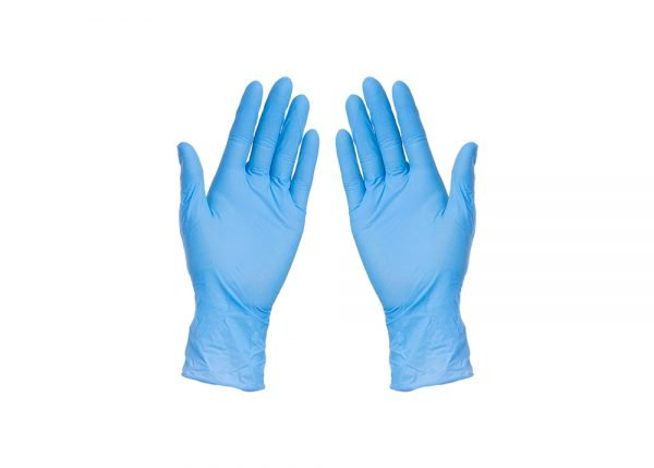 Blue nitrile gloves, powder- and latex-free - Nationwide Medical Supply