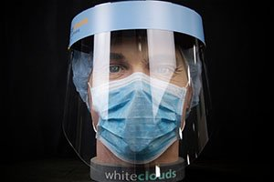 Reusable face shield anti-impact, waterproof, transparent - Nationwide Medical Supply